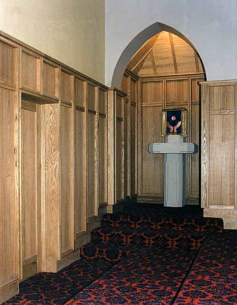 Panelling and doorway