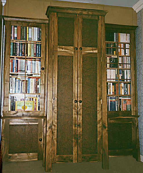 Wardrobe and bookcases